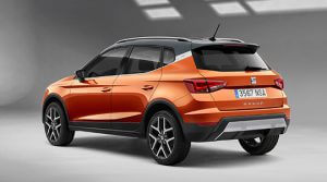 Orange SEAT Arona set bagfra